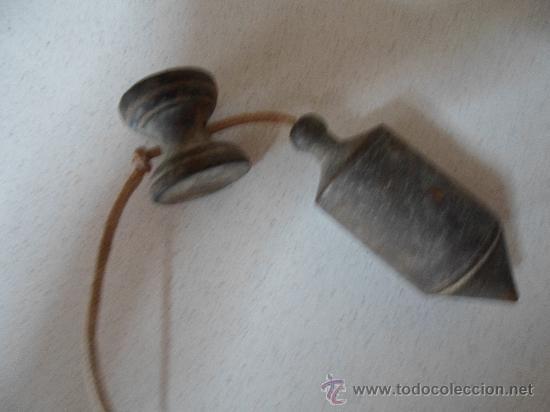 Antigüedades: ANTIGUA PLOMADA DE ALBAÑIL - Foto 2 - 32510301