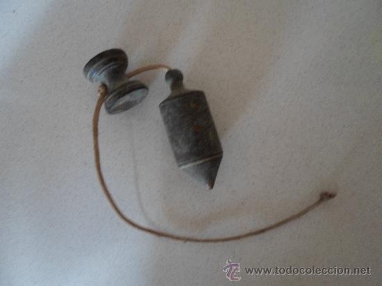 Antigüedades: ANTIGUA PLOMADA DE ALBAÑIL - Foto 4 - 32510301
