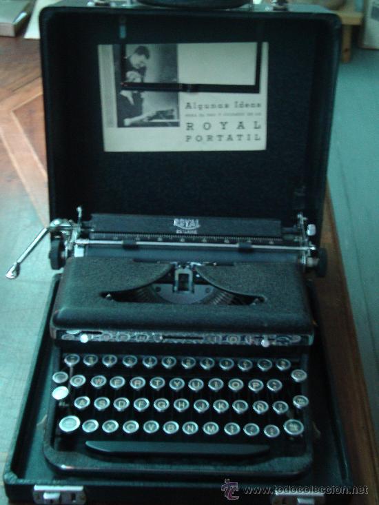 ORIGINAL MAQUINA DE ESCRIBIR ROYAL DE LUXE, PORTATIL. FABRICADA EN EEUU. 1930. (Antigüedades - Técnicas - Máquinas de Escribir Antiguas - Royal)
