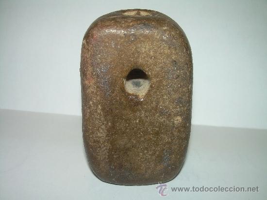 Antigüedades: MUY ANTIGUA MEDIDA DE PESO CON CONTRASTE DE CERAMICA VIDRIADA...200 GR. - Foto 4 - 32585669