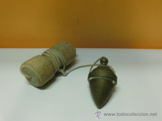 Antigüedades: Plomada antigua de bronce - Foto 2 - 32710374
