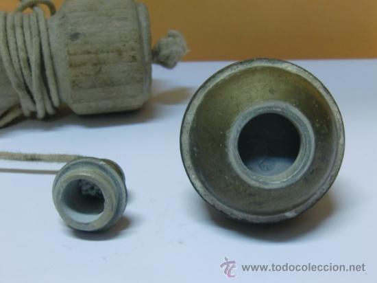Antigüedades: Plomada antigua de bronce - Foto 3 - 32710374