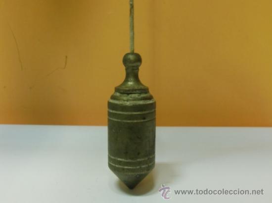Antigüedades: Plomada antigua de bronce - Foto 2 - 32710415