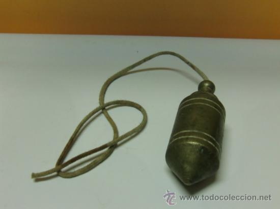 Antigüedades: Plomada antigua de bronce - Foto 3 - 32710415