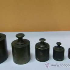 Antiquités: CONJUNTO DE 6 PESOS, ANTIGUOS. Lote 32729075