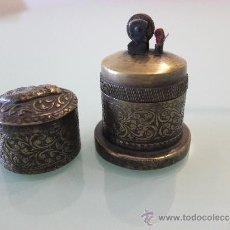Antigüedades: MECHERO DE LATÓN, COLONIAL INGLES SXIX , ORIGEN BIRMANIA. Lote 32784940