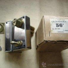 Antigüedades: CERRADURA 56A DE 60 MM. DERECHAS. Lote 32813787