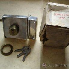 Antigüedades: CERRADURA 125A DE 8 CM. IZQUIERDAS. Lote 32813801