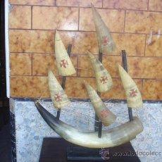 Antigüedades: BARCO DE ATA DE TORO. Lote 32955275