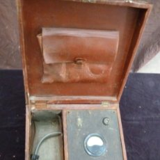 Antigüedades: ELECTROSHOCK. PORTATIL. EN MALETIN PIEL. 35X35X17. Lote 32992277