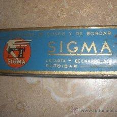 Antigüedades: SIGMA. CAJA HOJALATA LITOGRAFIADA ESTARTA Y ECENARRO, S.A. ELGOIBAR. Lote 33106571