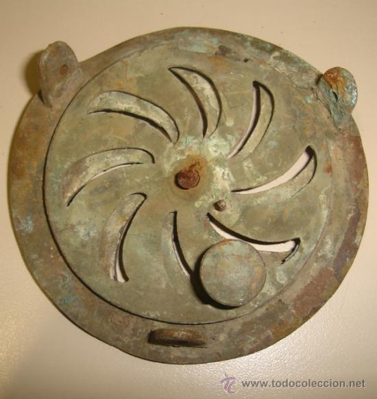 Antigüedades: ANTIGUA MIRILLA PARA PUERTA. 11 CM DIAMETRO. - Foto 2 - 150972982