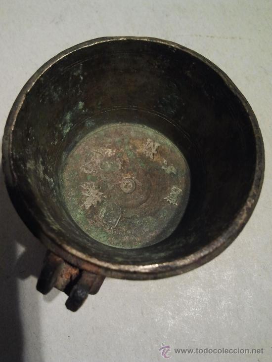 Antigüedades: Peso ponderal incompleto con marcas. - Foto 4 - 33230281