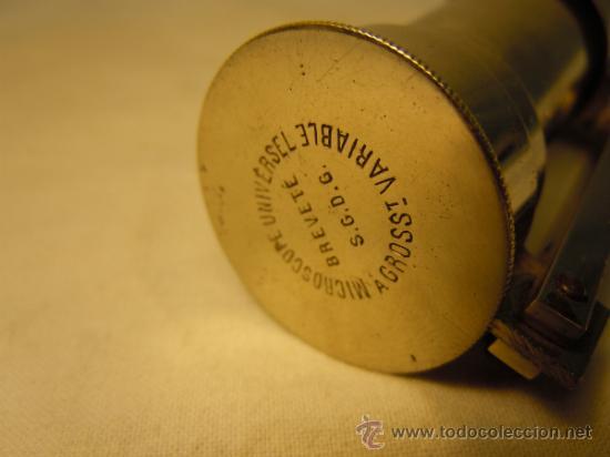 Antigüedades: MICROSCOPIO ANTIGUO DE VIAJE O BOLSILLO - Foto 4 - 54479344