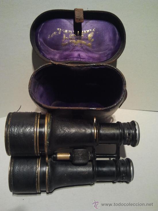 PRISMÁTICOS NAVALES FRANCESES DE GRAN ALCANCE CON INSCRIPCIÓN Y ESTUCHE ORIGINAL. (Antigüedades - Técnicas - Instrumentos Ópticos - Prismáticos Antiguos)