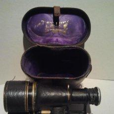 Antigüedades: PRISMÁTICOS NAVALES FRANCESES DE GRAN ALCANCE CON INSCRIPCIÓN Y ESTUCHE ORIGINAL. Lote 33281808