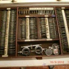 Antigüedades: OPTICA- OFTALMOLOGO CAJA DE PRUEBAS AÑOS 40. RESTAURADA.FOTOS ADICIONALES. Lote 33373545