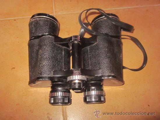 BINOCULARES HANIMEX 10 X 50 AÑOS 70 - CON CAJA (Antigüedades - Técnicas - Instrumentos Ópticos - Binoculares Antiguos)