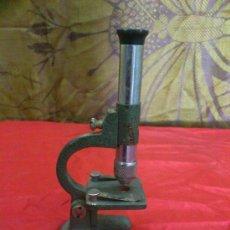 Antigüedades: MICROSCOPIO METALICO MONOCULAR 'OPTICO PARIS'.... Lote 56041312