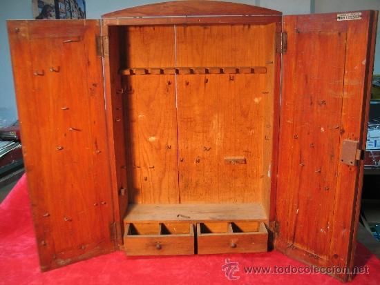 Aparador Laqueado ~ antiguo armario de madera para herramientas mar Comprar Varias Antigüedades Técnicas y