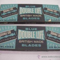 Antiquitäten - ANTIGUO LOTE DE HOJILLAS DOUBLE LIFE BLUE BLADES 50 UNIDADES EN SUS CAJAS NUEVAS GRAN BRETAÑA - 33456759