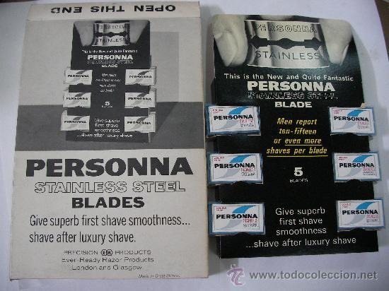 LOTE DE ANTIGUAS HOJILLAS PERSONNA GRAN BRETAÑA (12 CAJITAS CON 5 UNIDADES CADA UNA) TOTAL 60 HOJILL (Antigüedades - Técnicas - Barbería - Hojas de Afeitar Antiguas)