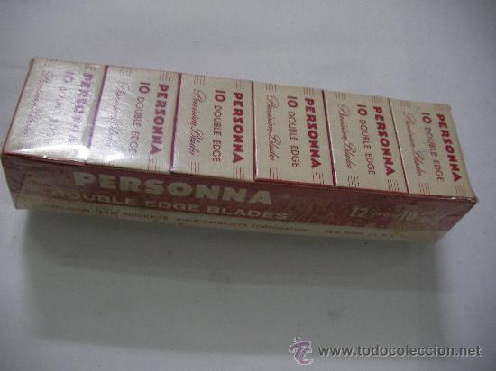 LOTE DE ANTIGUAS HOJILLAS PERSONNA GRAN BRETAÑA (12 CAJITAS CON 10 UNIDADES CADA UNA) TOTAL 120 HOJI (Antigüedades - Técnicas - Barbería - Hojas de Afeitar Antiguas)