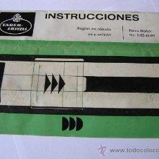 Antigüedades: INSTRUCCIONES REGLA DE CALCULO DE PRECISION NOVO-BIPLEX NO. 2/83 62/83 SLIDE RULE RECHENSCHIEBER. Lote 33570762