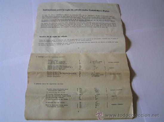 Antigüedades: INSTRUCCIONES REGLA DE CALCULO DE PRECISION NOVO-BIPLEX No. 2/83 62/83 SLIDE RULE RECHENSCHIEBER - Foto 10 - 33570762