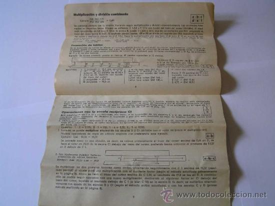 Antigüedades: INSTRUCCIONES REGLA DE CALCULO DE PRECISION NOVO-BIPLEX No. 2/83 62/83 SLIDE RULE RECHENSCHIEBER - Foto 14 - 33570762