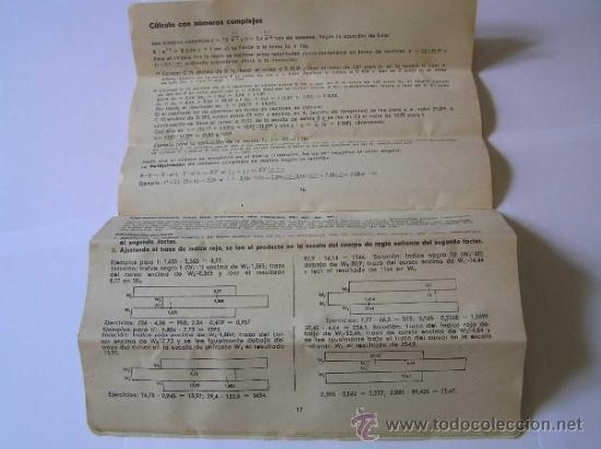Antigüedades: INSTRUCCIONES REGLA DE CALCULO DE PRECISION NOVO-BIPLEX No. 2/83 62/83 SLIDE RULE RECHENSCHIEBER - Foto 16 - 33570762