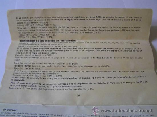 Antigüedades: INSTRUCCIONES REGLA DE CALCULO DE PRECISION NOVO-BIPLEX No. 2/83 62/83 SLIDE RULE RECHENSCHIEBER - Foto 17 - 33570762