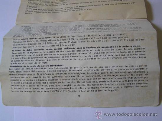 Antigüedades: INSTRUCCIONES REGLA DE CALCULO DE PRECISION NOVO-BIPLEX No. 2/83 62/83 SLIDE RULE RECHENSCHIEBER - Foto 18 - 33570762