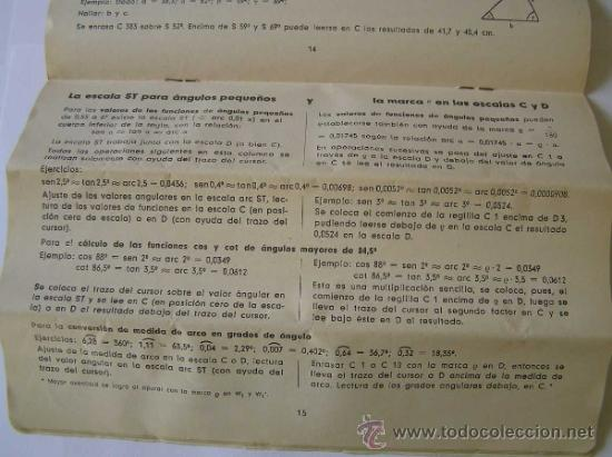 Antigüedades: INSTRUCCIONES REGLA DE CALCULO DE PRECISION NOVO-BIPLEX No. 2/83 62/83 SLIDE RULE RECHENSCHIEBER - Foto 19 - 33570762