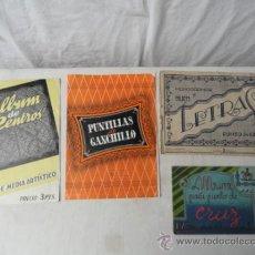 Antigüedades: LOTE DE 4 ALBUMES DE PUNTO DE CRUZ, GANCHILLO Y CENTROS.. Lote 33665445