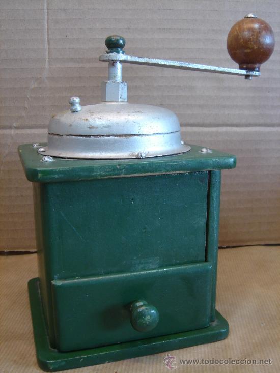 ANTIGUO MOLINILLO DE CAFE MADERA - 12X18 CMS - (Antigüedades - Técnicas - Molinillos de Café Antiguos)