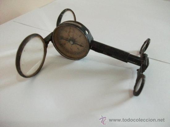 Antigüedades: Binoculares con brújula y espejo - Alemania - Completos y enteros WWI - Foto 15 - 33742413