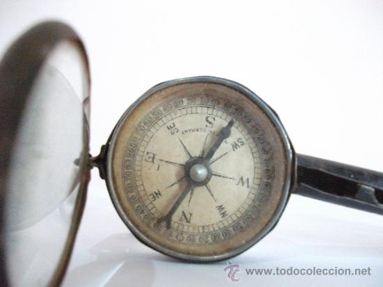 Antigüedades: Binoculares con brújula y espejo - Alemania - Completos y enteros WWI - Foto 9 - 33742413