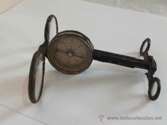 Antigüedades: Binoculares con brújula y espejo - Alemania - Completos y enteros WWI - Foto 13 - 33742413