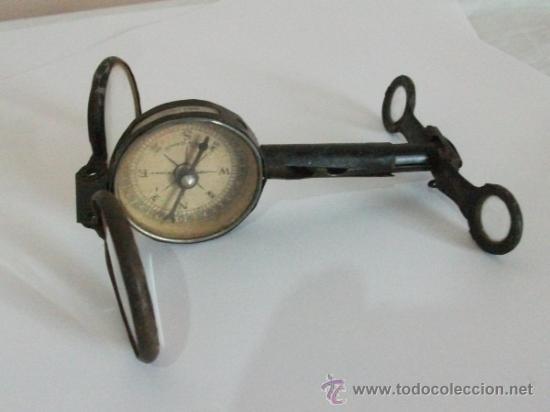 BINOCULARES CON BRÚJULA Y ESPEJO - ALEMANIA - COMPLETOS Y ENTEROS WWI (Antigüedades - Técnicas - Otros Instrumentos Ópticos Antiguos)