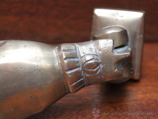 Antigüedades: MAGNIFICA ALDABA ANTIGUA DE GRANDES DIMENSIONES EN BRONCE MACIZO – ORIGEN MARRUECOS - Foto 3 - 33773581