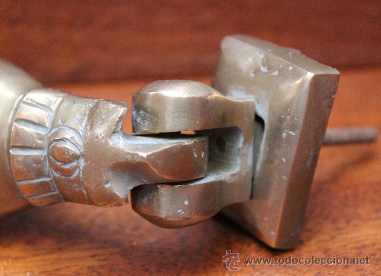 Antigüedades: MAGNIFICA ALDABA ANTIGUA DE GRANDES DIMENSIONES EN BRONCE MACIZO – ORIGEN MARRUECOS - Foto 4 - 33773581