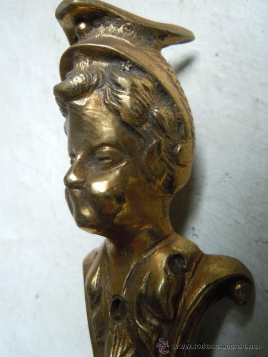 Antigüedades: CANTONERA DE BRONCE ANTIGUA - Foto 5 - 33777674