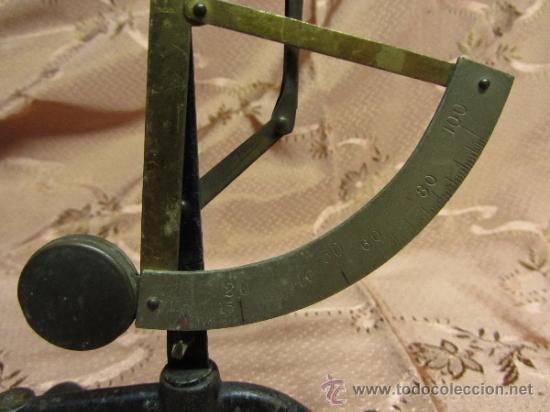 Antigüedades: Balanza de sobremesa milimétrica / Circa 1900 - Foto 3 - 33850331