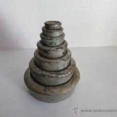 Antigüedades: JUEGO INGLES DE PESOS DE 2 LIBRAS A 1/2 ONZA COMPLETO. Lote 33823047