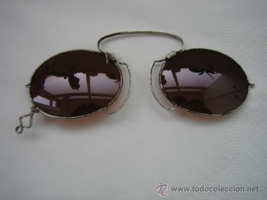 Antigüedades: Gafas antiguas de sol en color marron - Foto 7 - 33851909