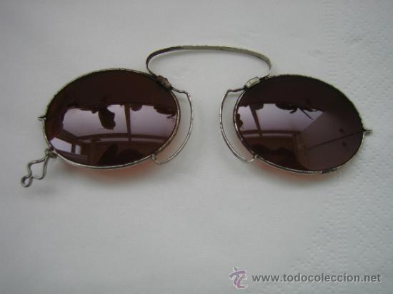 Antigüedades: Gafas antiguas de sol en color marron - Foto 8 - 33851909