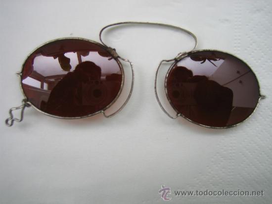 Antigüedades: Gafas antiguas de sol en color marron - Foto 10 - 33851909