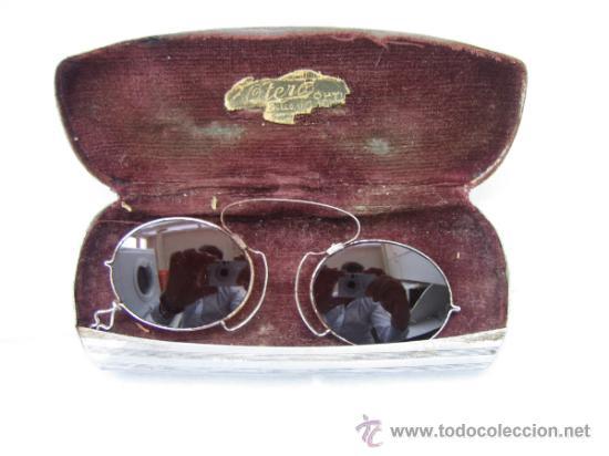 GAFAS ANTIGUAS DE SOL EN COLOR MARRON (Antigüedades - Técnicas - Instrumentos Ópticos - Gafas Antiguas)