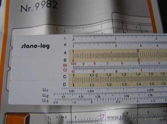 Antigüedades: REGLA DE CALCULO STANDARDGRAPH stano . log Nº. 9982 CALCULADORA SLIDE RULE RECHENSCHIEBER - Foto 5 - 33945768